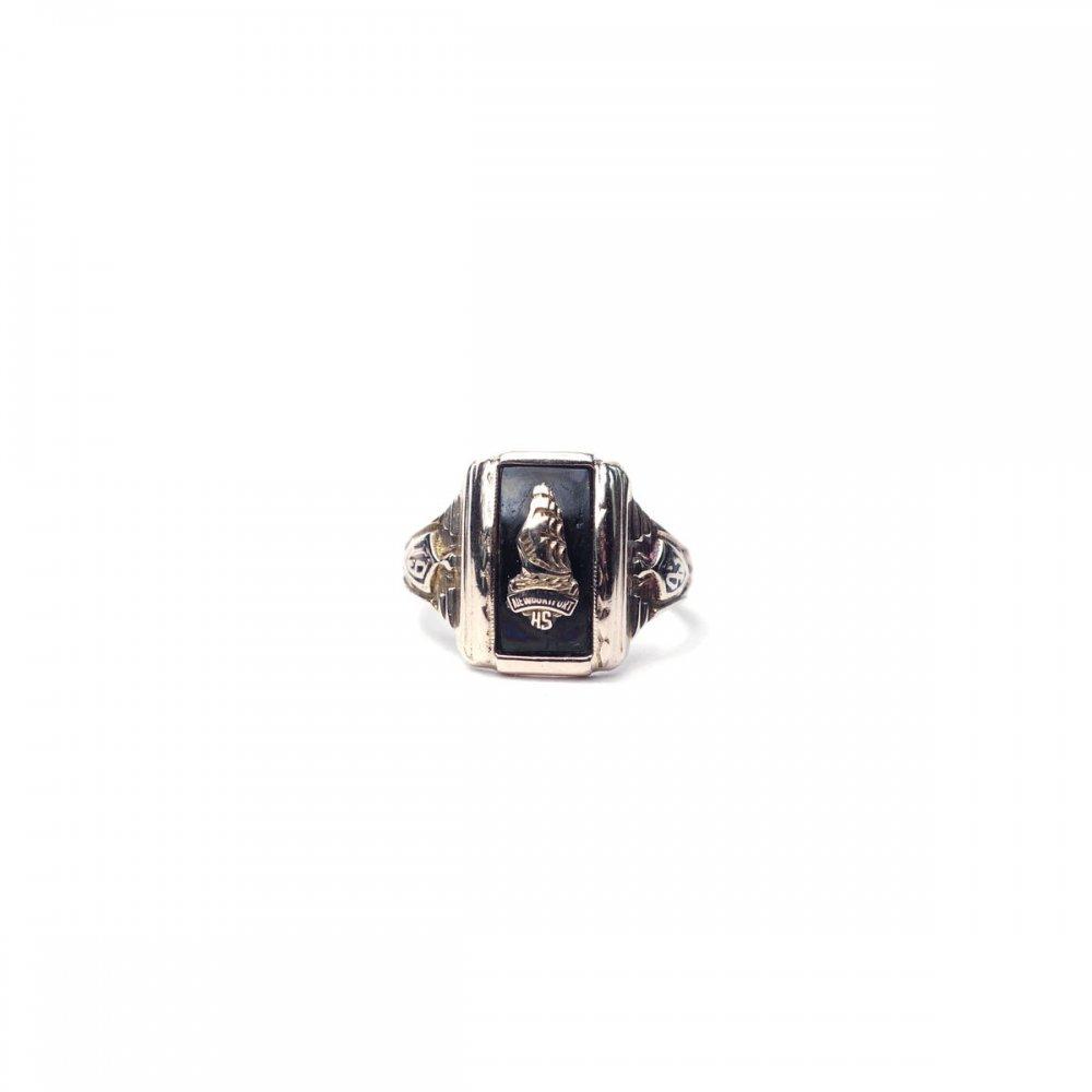 古着 通販 ヴィンテージ カレッジリング【10kt Gold】【1943s-】Onix Top & GLD Emblem