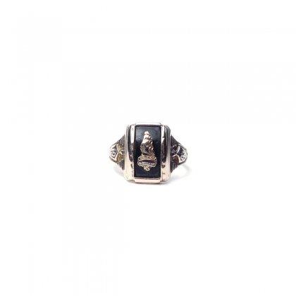 ヴィンテージ カレッジリング【10kt Gold】【1943s-】Onix Top & GLD Emblem