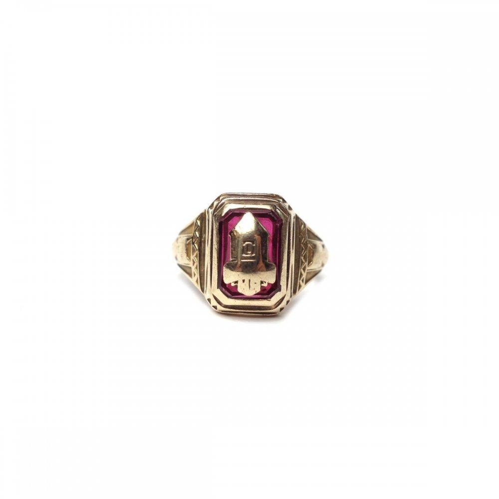 古着 通販 ヴィンテージ カレッジリング【BALFOUR 10kt Gold】【1940s~】Red Top & GLD Emblem
