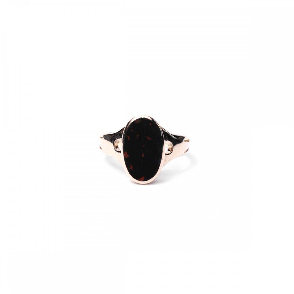 古着 通販 ヴィンテージ シグネット リング【Made in ENGLAND】【585-14ct Gold × Blood Stone】