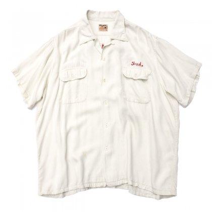 古着 通販 ヴィンテージ ボーリング シャツ【PIN MAKER 】【1950's-】ホワイト