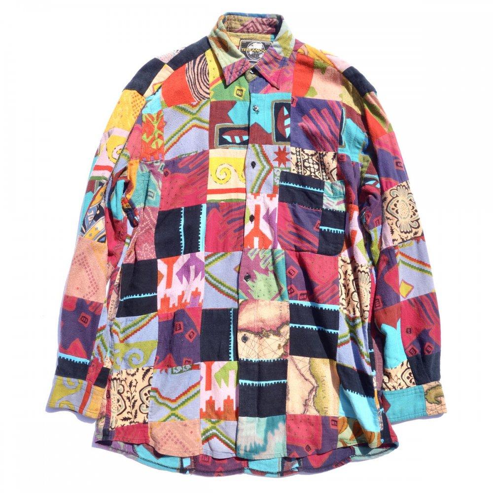 古着 通販 ヴィンテージ クレイジーパターン パッチワーク シャツ【TERRANOVA】【1990's-】