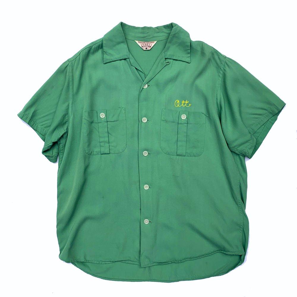 古着 通販 ヴィンテージ  ヒルトン ボウリングシャツ【50's-60's】【Custom Tailored Hilton】Mint