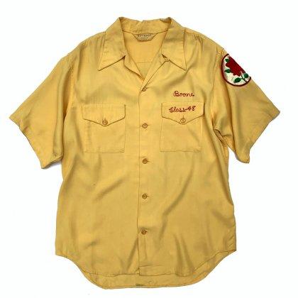 古着 通販 ヴィンテージ ボウリングシャツ【NAT NAST】【The Shriners】【1940's-】Yellow