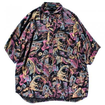 古着 通販 ヴィンテージ アートプリントレーヨンシャツ【SHAH SAFARI】【1980's】