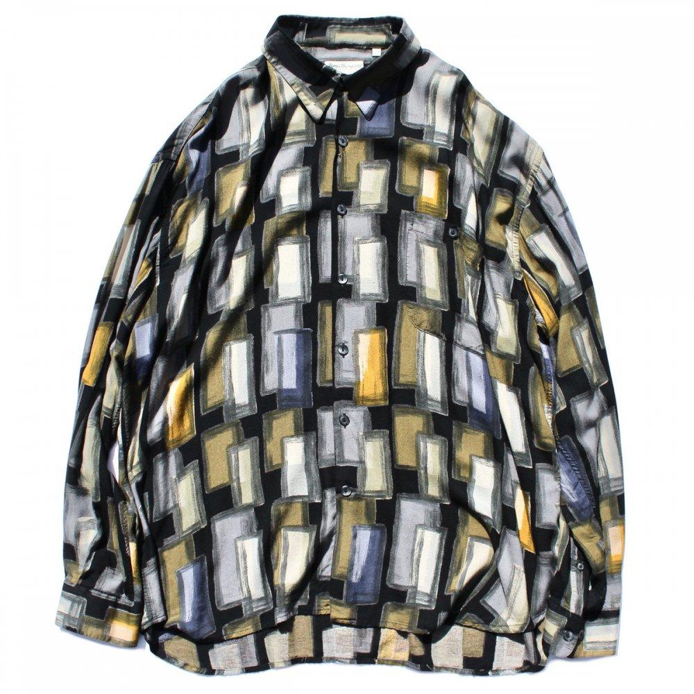 古着 通販 ヴィンテージ アートプリントレーヨンシャツ【Norm Thompson】【1980's】