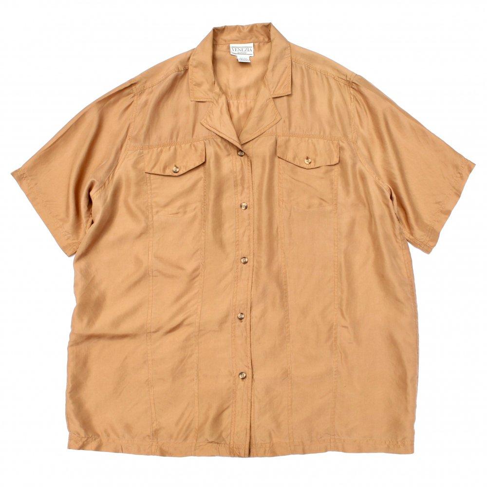 古着 通販 ヴィンテージ S/S オープン カラー シルク シャツ【VENEZIA】【1980's-】