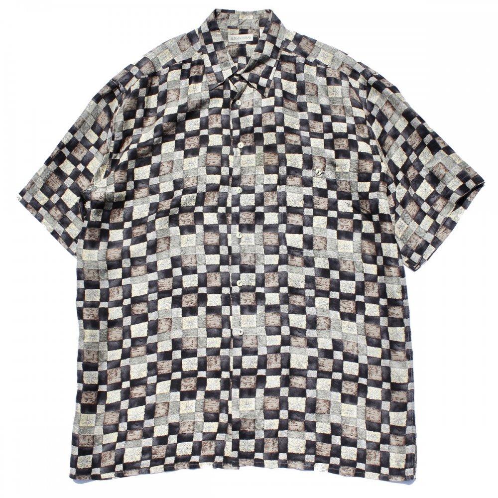 古着 通販 ヴィンテージ アートプリント シルク シャツ【BURMA BIBAS】【1980's-】Cube