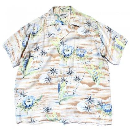 古着 通販 ヴィンテージ レーヨン アロハ シャツ【aloha】【1960's-】Tree Flower