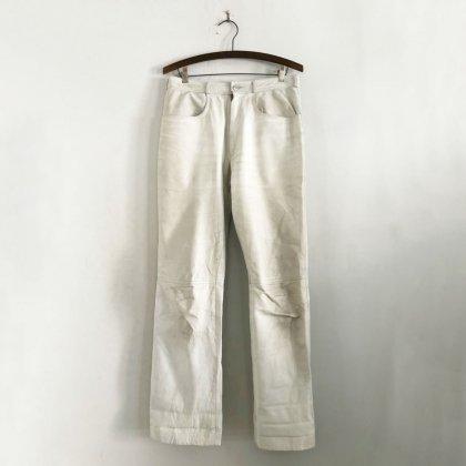 古着 通販 ヴィンテージ ホワイト レザーパンツ【PADDOCK`S】【1980s】Vintage Leather Pants