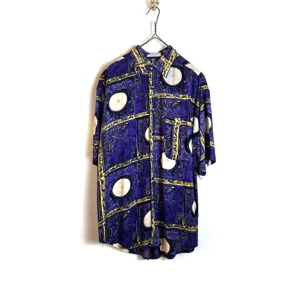 古着 通販 ヴィンテージ S/S レーヨンシャツ【1980's】【GOOCH】Vintage Art Print Rayon Shirt