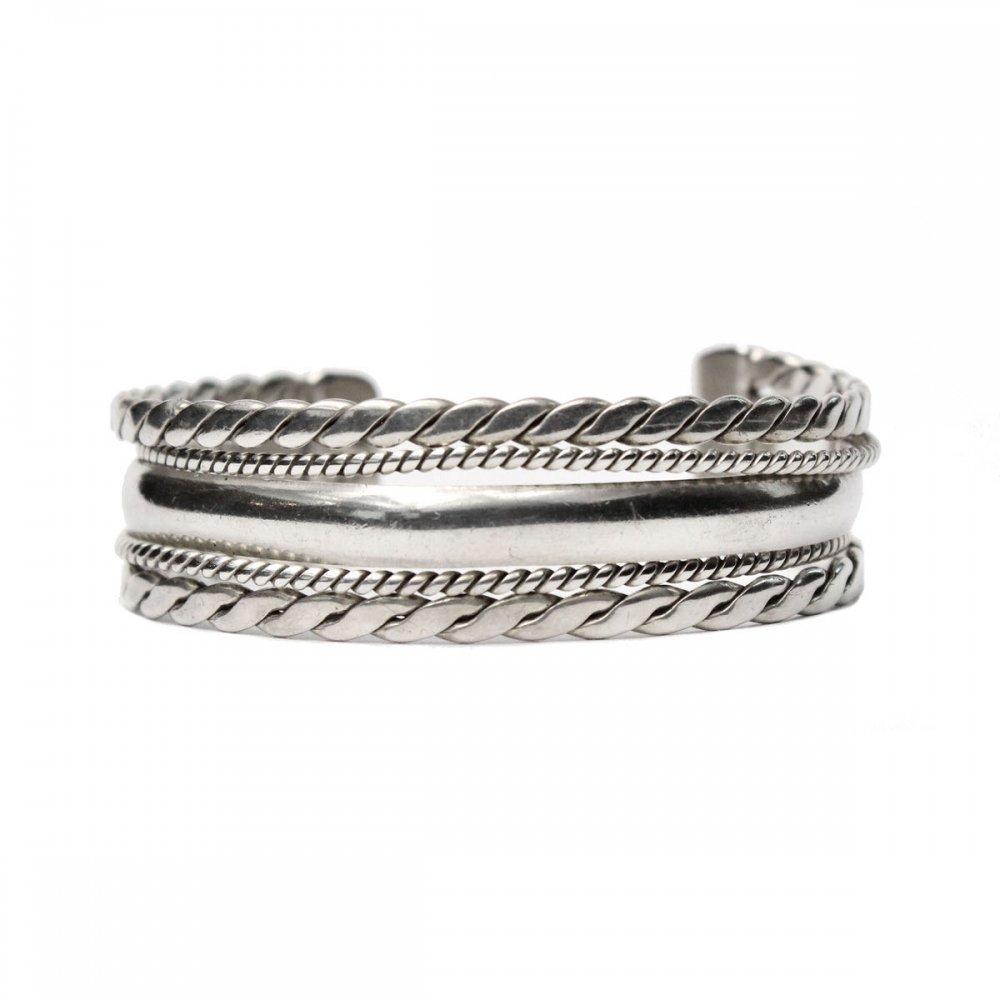 古着 通販 ナバホ ヴィンテージ バングル【STERLING】Twisted Wire Coin Silver