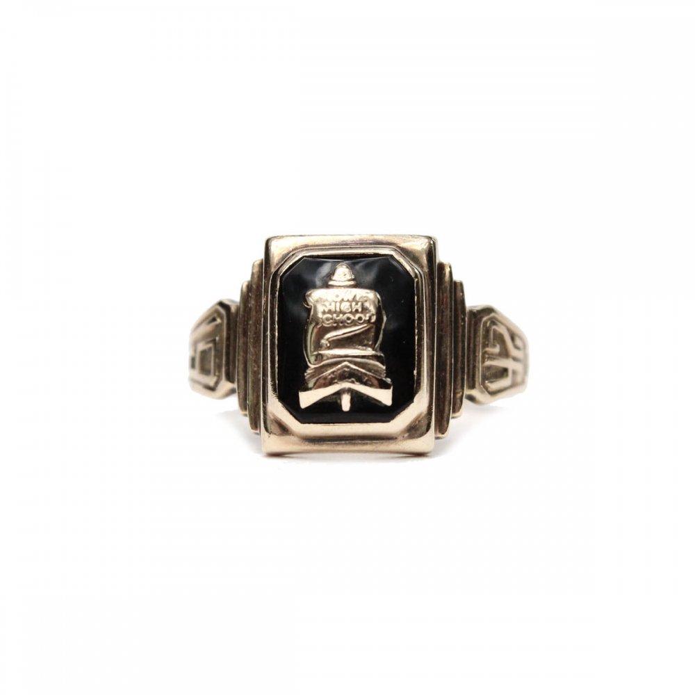 古着 通販 ヴィンテージ カレッジリング【BALFOUR 10kt Gold】【1942s-】Onix Top & GLD Emblem