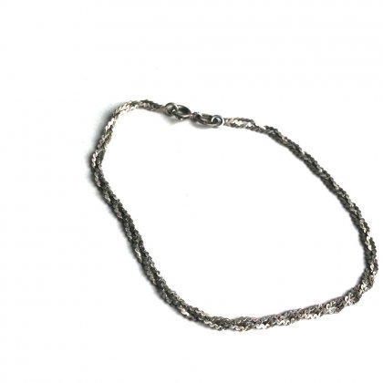 古着 通販 ヴィンテージ シルバー チェーンブレスレット【シルバー925】【 Sterling Silver】Vintage Silver Chain Bracelet