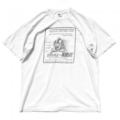 古着 通販 【POODLE With a  MOHAWK - LYNDA BARRY】ヴィンテージ T シャツ【1985s-】ポスタープリント