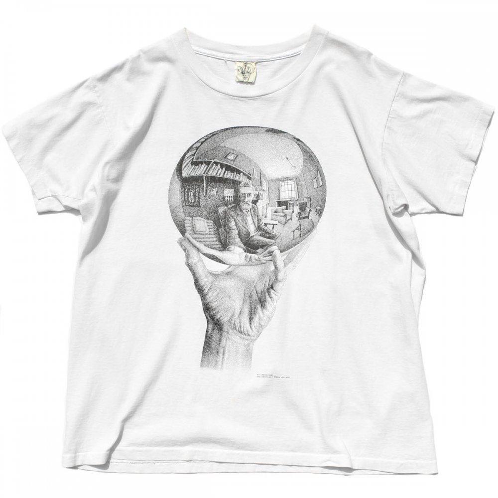 古着 通販 エッシャー ヴィンテージ T シャツ【M.C Escher】【Self Portrait】【1990s-】