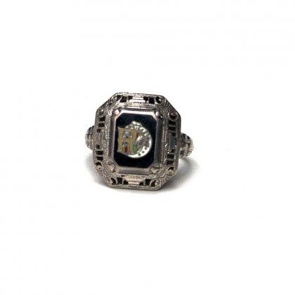 古着 通販 ヴィンテージ オッドフェローズ リング【FLT】【1930s-】【STERLING】Vintage Free Mason Ring