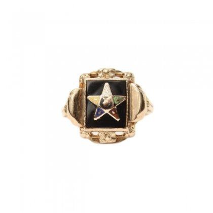古着 通販 ヴィンテージ フリーメイソン リング【1930s-】【EASTERN STAR】【10kt Gold】