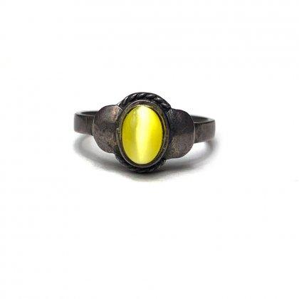 古着 通販 ヴィンテージ シルバー ストーン リング【925-STERLING】【Yellow Stone】Vintage Stone Ring