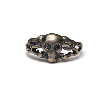 古着 通販 ヴィンテージ スカル シルバー リング【Mement Mori】【STERLING】Vintage Silver Skull Ring