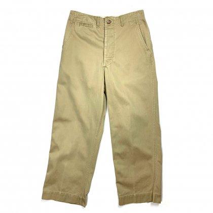 古着 通販 ヴィンテージ  ミリタリーチノパン 45カーキ【U.S.ARMY】【1940s-】Vintage  Chino Trousers
