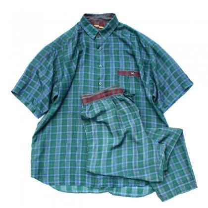 古着 通販 ヴィンテージ リゾート セットアップ【MAXDECO】【1980's-】100% Silk タータン チェック