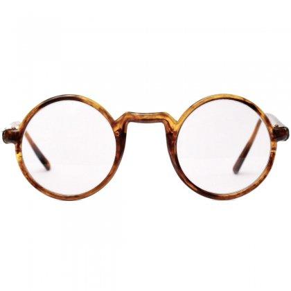 古着 通販 ヴィンテージ メガネ【Unknown Brand】ラウンド 丸眼鏡【1920s-】Side Mount Amber USA