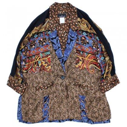 古着 通販 ヴィンテージ レーヨン ジャケット【CAROLE LITTLE】【1980's-】 クレイジーパターン デザイナーズ