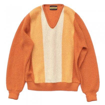 古着 通販 ヴィンテージ モヘア ニット Vネック【ARROW】【1960's-】Retro Orange