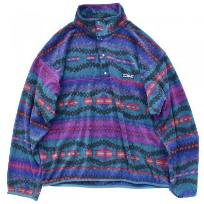 古着 通販 パタゴニア【patagonia】フリース シンチラ スナップT【1992's~94's 雪なし タグ】ネイティブパターン