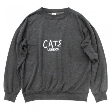 古着 通販 ヴィンテージ L/S スウェット【CATS LONDON】【1981's-】ミュージカル プリント