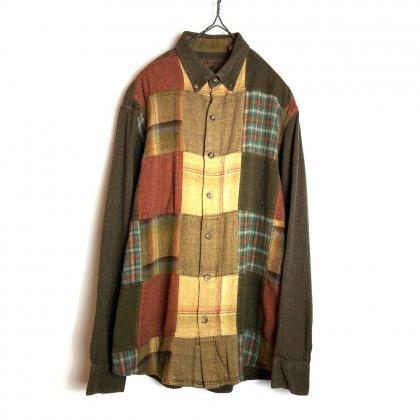 古着 通販 ヴィンテージ ロングスリーブ ボタンダウン チェックシャツ【NORTH RIVER】【1980's】Vintage Long Sleeve B.D Check Shirts