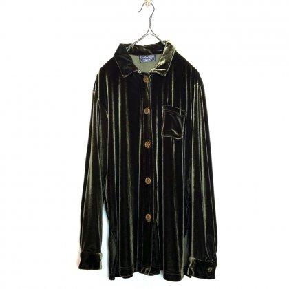 古着 通販 ヴィンテージ ロングスリーブ ベロア シャツ【Carol Anderson Collection】【1980's】Vintage Long Sleeve Velour Shirts