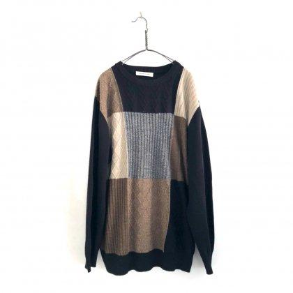 古着 通販 ヴィンテージ クルーネック ニット【1990's】【PRONTO UOMO】Vintage Crewneck Panel Knitting Sweater