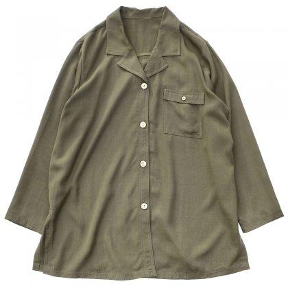古着 通販 ヴィンテージ ビッグシルエット レーヨン ジャケット【Unknown Brand】【1980's-】 Olive