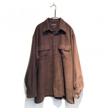 古着 通販 ヴィンテージ ビッグシルエット フェイクスエードシャツ【1990s】【VAN HEUSEN】Vintage Big Size Fake Suede Shirt