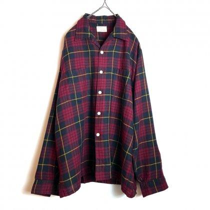 古着 通販 ヴィンテージ  オープンカラー チェックシャツ【Viyella】【Manhattan】【1960's】Open Collar Check Shirts