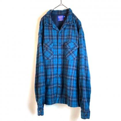古着 通販 ヴィンテージ  ウール オープンカラー チェックシャツ【PENDLETON】【ペンドルトン】Vintage Wool Open Collar Check Shirts