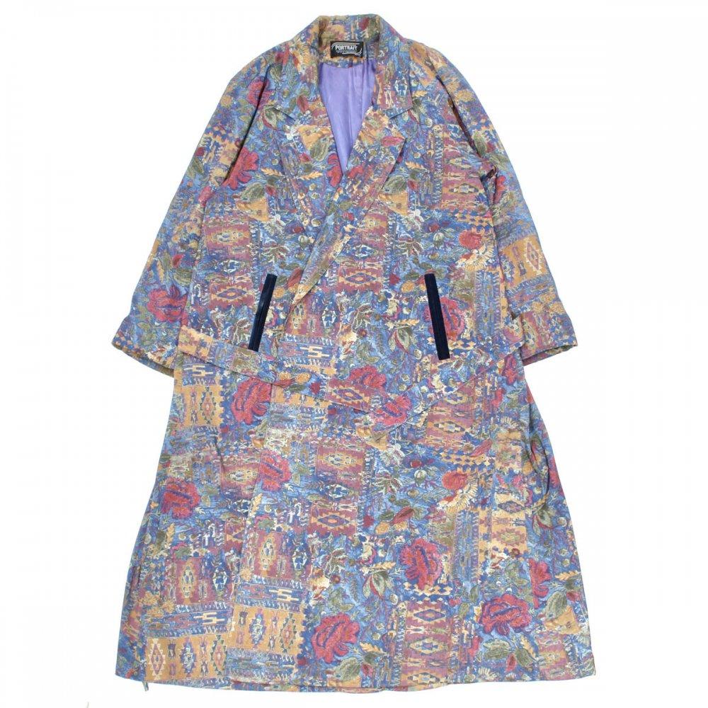 古着 通販 ヴィンテージ ナイロン アートプリント ローブ コート【PORTRAIT】【1980's-】Rug Pattern