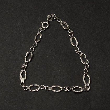 古着 通販 ヴィンテージ シルバー チェーン ブレスレット【925 STERLING Silver Italy】Crinkle Chain