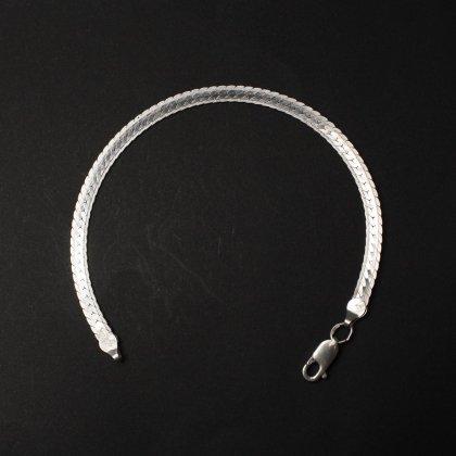 古着 通販 ヴィンテージ シルバー チェーン ブレスレット【925 STERLING Silver Italy】 Designed Snake Chain