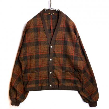 古着 通販 ペンドルトン【PENDLETON】ヴィンテージ オンブレチェック ウールカーディガン【40's~50's】Vintage Wool Cardigan