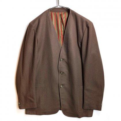 古着 通販 ヴィンテージ フランネル ノーカラー ジャケット【BROWSER】【1960's】No-Collar Flannel Jacket