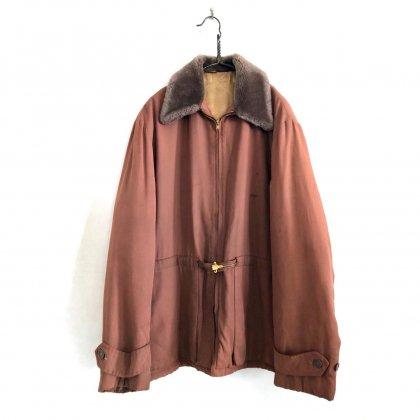 古着 通販 ヴィンテージ ギャバジン ボアジャケット【1950's】Vintage Wool Gabardine Winter Jacket