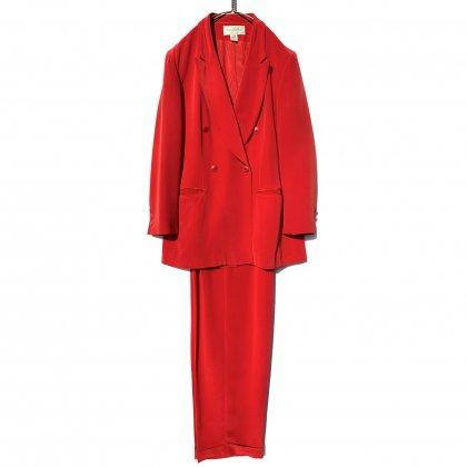 古着 通販 ヴィンテージ シルク ダブルブレスト スーツ セットアップ【1980's】Vintage Silk Double Breasted Suits