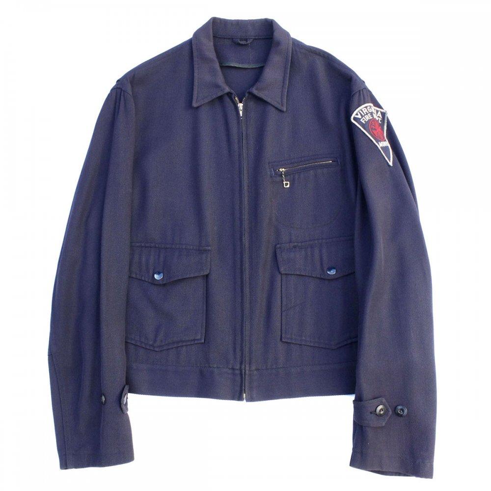 古着 通販 ヴィンテージ ギャバジン ジャケット【1950's-】【Virginia Fire Dept.】Fireman Uniform