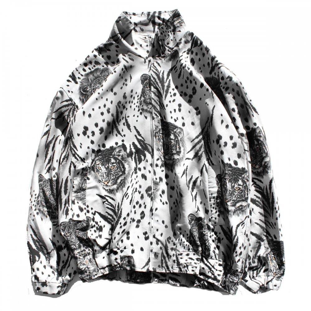 古着 通販 ヴィンテージ シルク ブルゾン【Glatt Fashion】【1990's-】 レオパード アニマル プリント