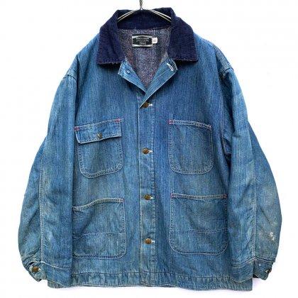 古着 通販 シアーズ【Sears】ヴィンテージ ブランケット付き カバーオール ジャケット デニムジャケット【1960's】Vintage Denim Coverall Jacket