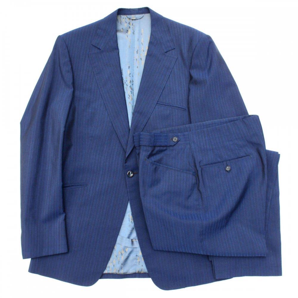 古着 通販 ヴィンテージ コンテンポラリー スーツ セットアップ【ARTURO】【1950's-】ブルー ストライプ