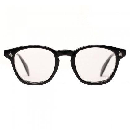 古着 通販 アメリカンオプティカル ヴィンテージ メガネ【American Optical】【1950's-】セーフティ エボニー ブラック 48-22